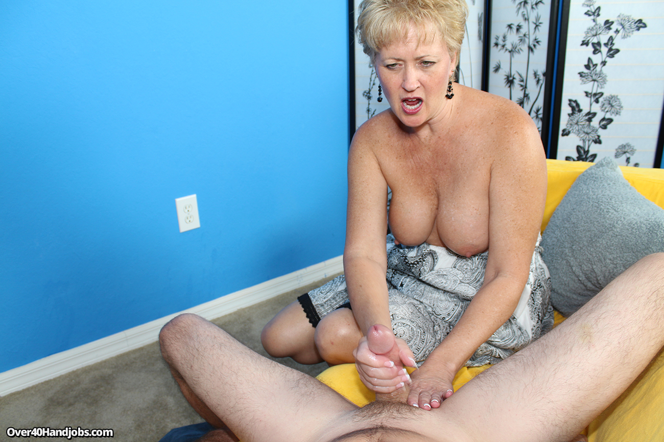 Mom smoking handjob son